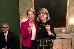 Frances with Donna Strickland