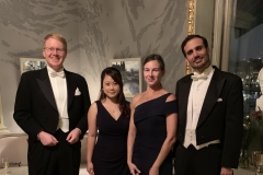 Stephan Hammer, Jenny Kan, Sabine Brinkmann-Chen, Javier Murciano Calles at the parallel banquet